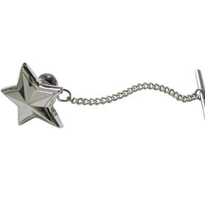 Silver Toned Star Tie Tack